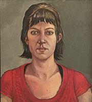 Portrait in red - Carla