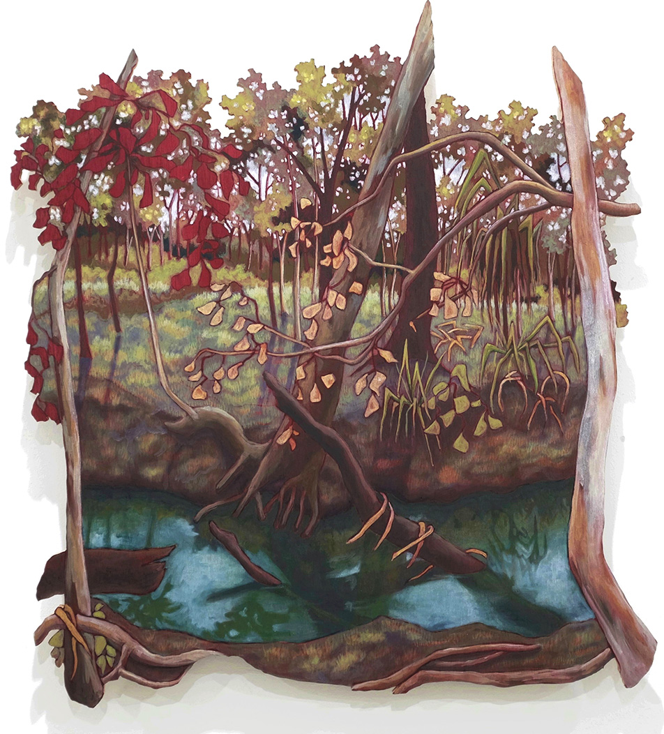 Sonia Martignon, Leaves in the water carrying messages from the trees