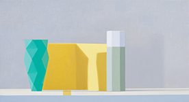Still life, yellow, green, grey