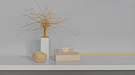 Still life, yellow, brown, grey