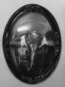 Reflected Self Portrait in Still Life of Convex Frame