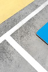 Jon Setter, White Cutting Through Yellow & Blue