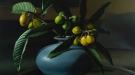 Loquats & Blue Vase