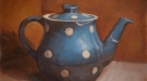 Marie Mansfield, Damaged Goods Blue Spotted Tea Pot