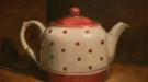 Marie Mansfield, Damaged Goods Red Spotted Tea Pot