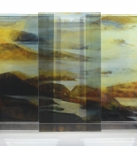 Glass Land Slide V (triptych)